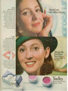 Yardley of London vintage ad 1972 Alyssia Lazin