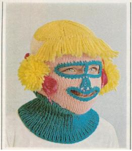 Girls knitted face mask vintage 1965
