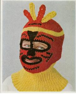 Boys Ski Mask knitted vintage 1965
