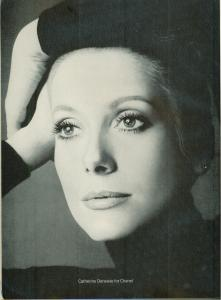 Catherine Deneuve Chanel No. 5 ad vintage 1973