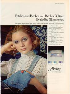 Yardley of London 1973 ad - Jane Hitchcock model