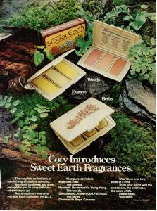 Coty Sweet Earth Fragrances ad vintage 1973