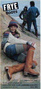 Vintage Frye Boots ad 1975