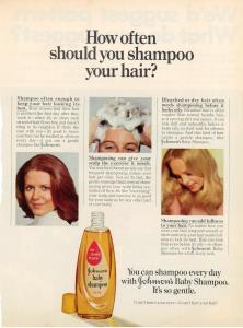 Johnson's Baby Shampoo ad vintage 1973