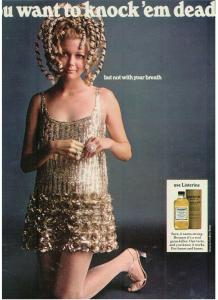 Vintage 1968 Listerine ad/Geoffrey Beene dress