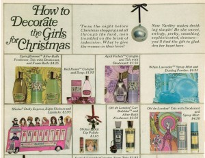 Yardley of London ad vintage 1968 Christmas