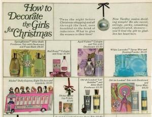 Yardley of London ad vintage 1968 Christmas