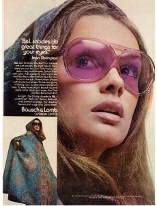 Jean Shrimpton Ray-Ban ad vintage 1971