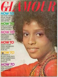 Diane Washington, cover girl Glamour November 1970