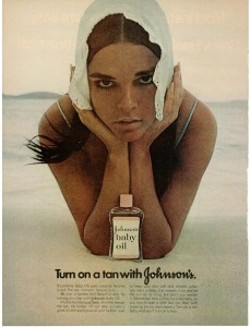 Ali MacGraw - Johnson's Baby Oil ad 1971