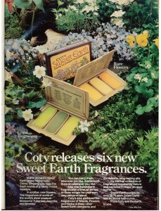 Vintage 1973 Coty Sweet Earth Fragrances ad