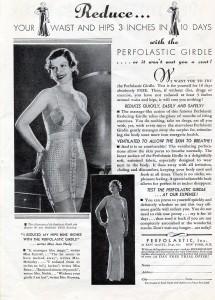 Vintage 1934 Perfolastic Girdle ad 30s