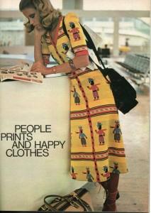 Vintage 1971 Betsey Johnson-Alley Cat Happy People Dress