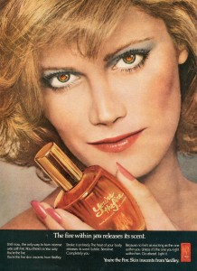 Finnfemme: Yardley You're the Fire skin inscents ad 1974