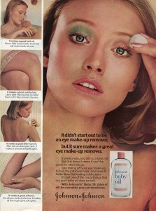Finnfemme: Johnson's Baby Oil ad 1974