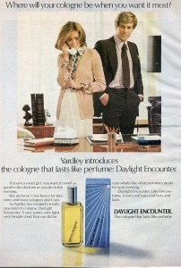 Finnfemme: Yardley of London Daylight Encounter cologne ad, 1974