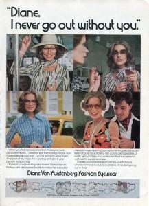 Finnfemme: Diane Von Furstenberg Fashion Eyewear Vintage 1976