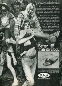 Finnfemme: The Boho Hipsters of 1972: Dr Scholl's Exercise Sandals