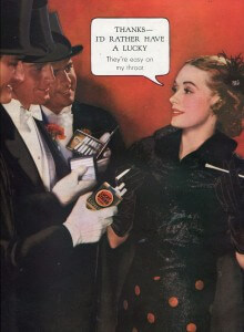 Finnfemme: A Merry Vintage 1935 Christmas. Lucky Strike cigarette ad