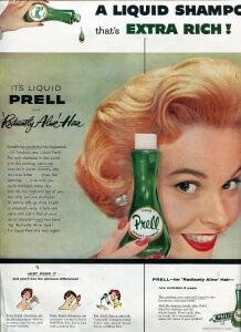 FINNFEMME: Prell Shampoo ad vintage 1955