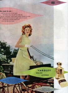 FINNFEMME: 1940s Yardley English Lavender Flower Child, vintage 1946 ad