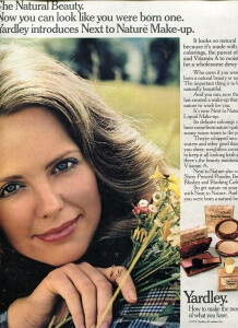 FINNFEMME: Yardley of London Introduces The Natural Beauty, 1972 ad