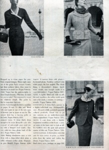 FINNFEMME: Those Exquisite 1953 Vogue Paris Original Designer Sewing Patterns - 3