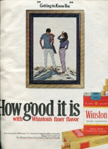 You've Come a Long Way, Baby: Cigarette Ads of 1972. Winston | FINNFEMME