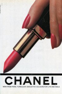 Vintage 80s Chanel Red Lipstick ad | Finnfemme Blog