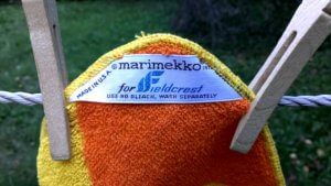 Marimekko for Fieldcrest towels vintage 1972 | Finnfemme Blog