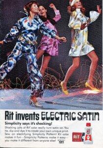 Vintage 1970 Rit Tie-Dye Electric Satin - Finnfemme