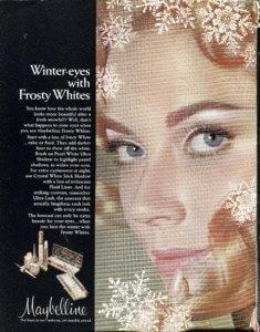 Maybelline Frosty Whites Eye Shadow ad - 1969 - Finnfemme