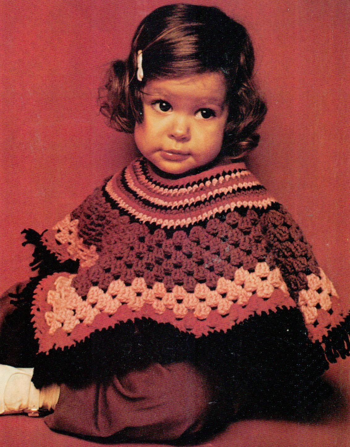 Musings From Marilyn Crochet A Cute Vintage 70s Toddler Poncho