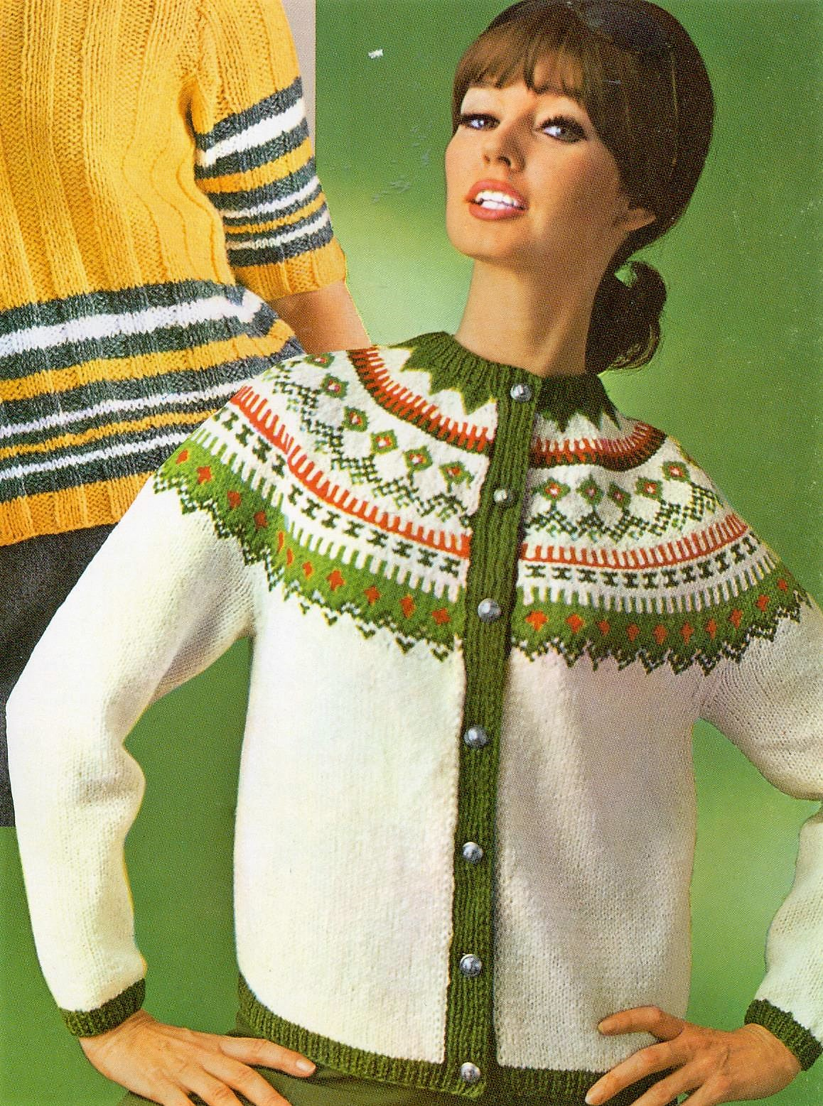 Musings From Marilyn Knit A Vintage 60s Fair Isle Cardigan Free