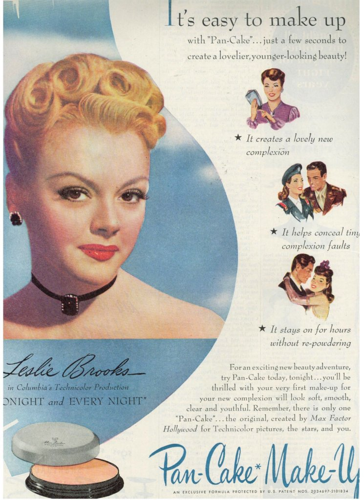 Musings From Marilyn Vintage 1945 Leslie Brooks For Max Factor S